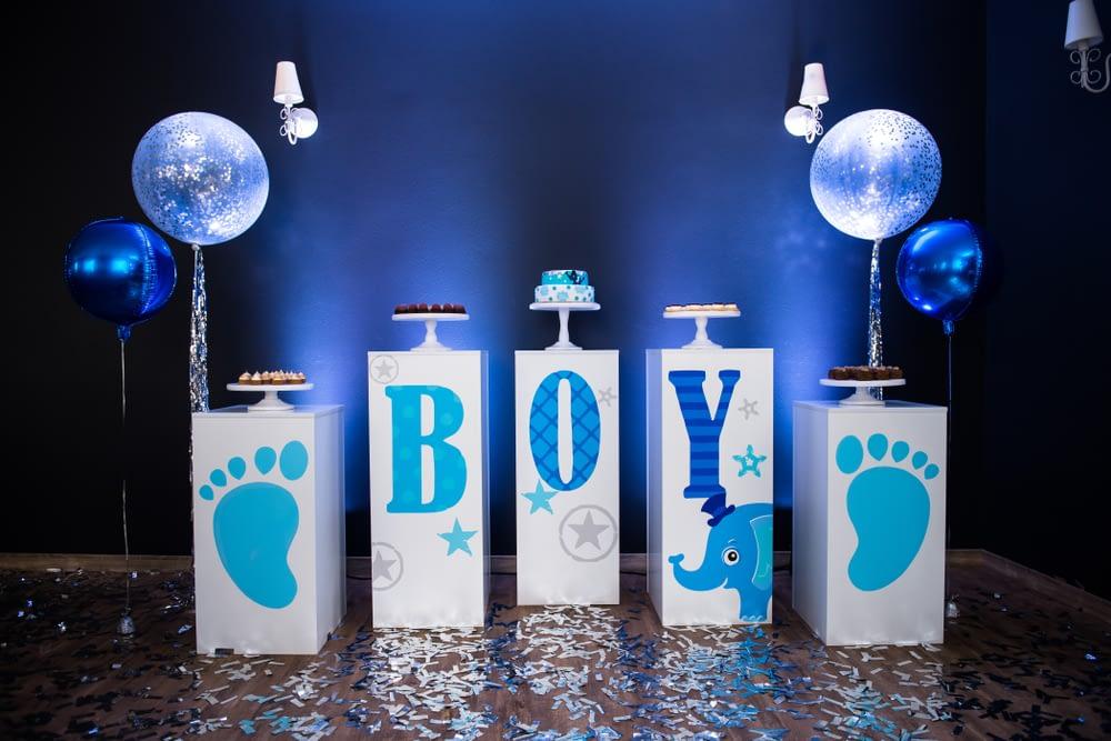 Blue Elephant Baby Shower Theme