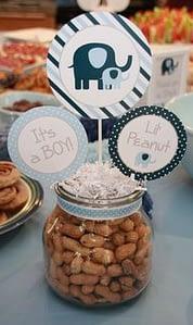 Blue Elephant Baby Shower Party Fav