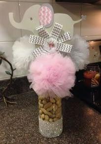 Pink Elephant Peanuts In A Jar