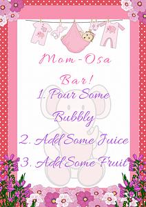 Pink Ele Mom-Osa Bar Sign