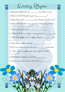 Blue Elephant Nursery Rhyme Game
