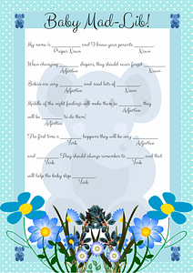Blue Elephant Mad Lib