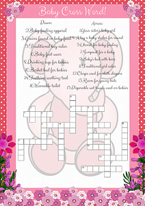 Pink Elephant Crossword