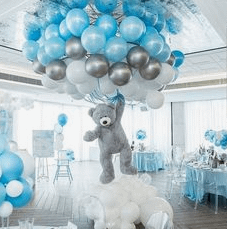 Blue Elephant Baby Shower Ballon Theme