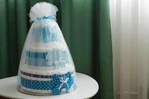 Blue Elephant Diaper Cake