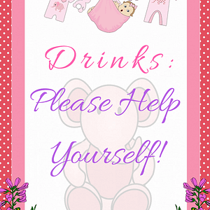 Pink Ele Drinks Sign 1