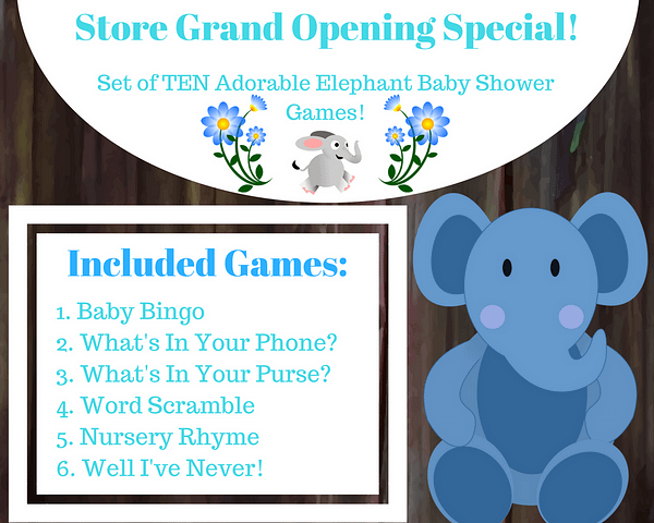 Included Blue Elephant Baby Games 1 6