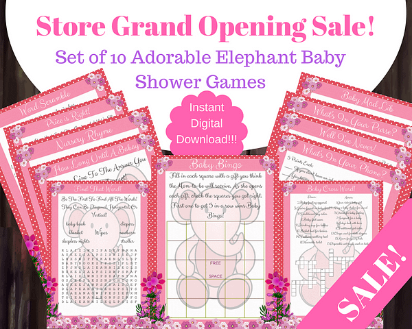 DFY Elephant Baby Shower Packages