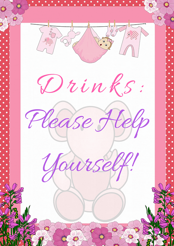 Pink Ele Drinks Sign