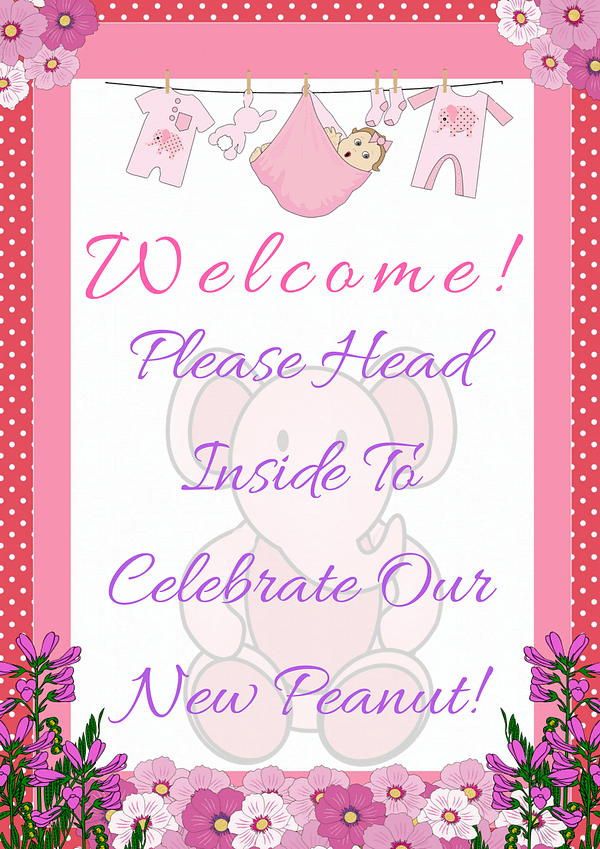 Pink Ele Welcome Sign