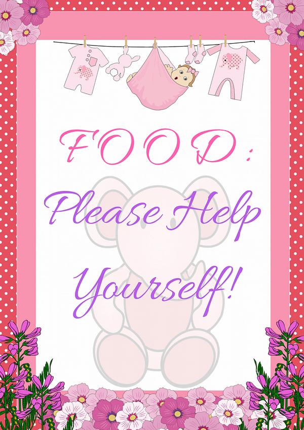 Pink Ellephant Food Sign